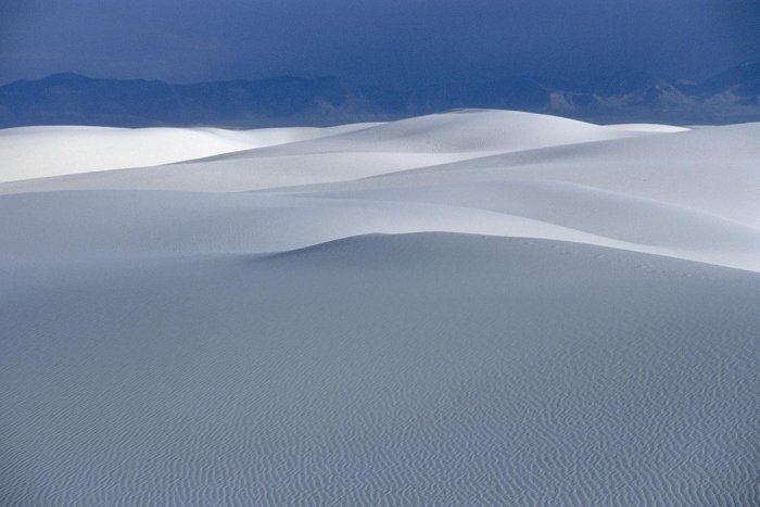 White Sands National Monument, New Mexico. Désert de gypse. (V 08749)