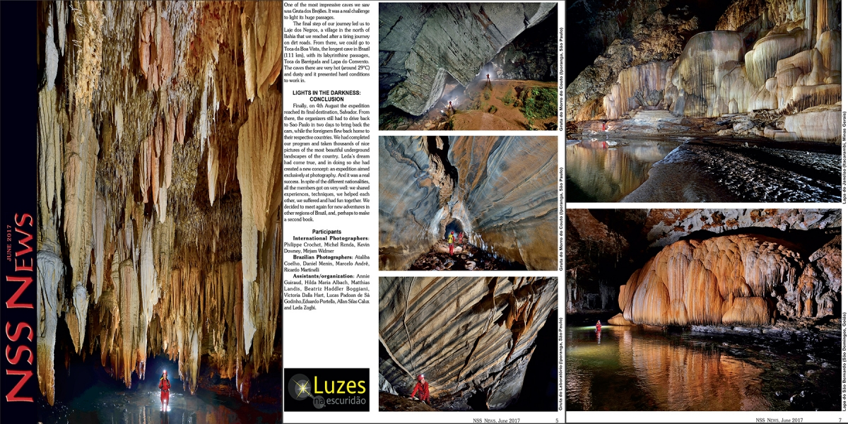 NSS News (juin 2017) : A month of photography in the caves of Brazil