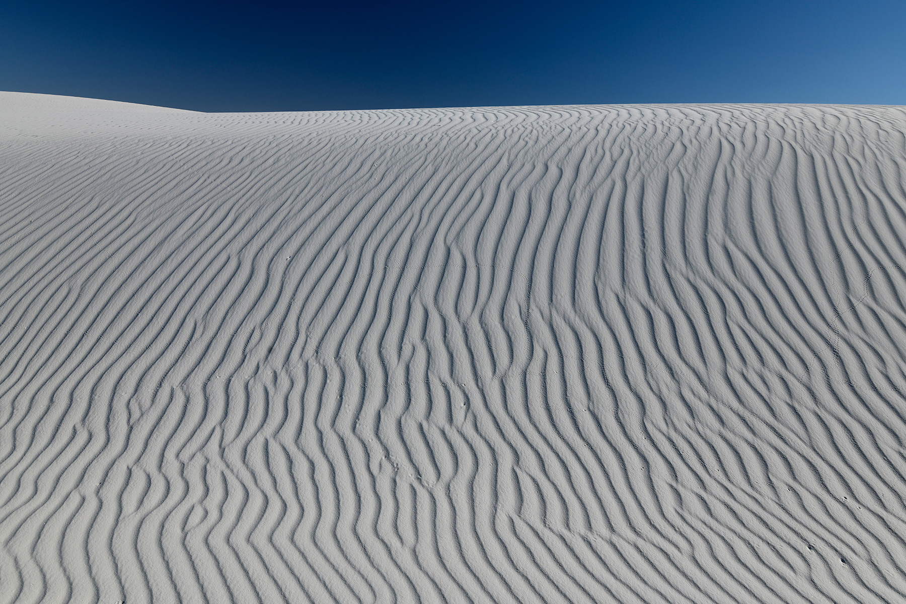 White Sands National Park (Nouveau Mexique, USA) - Dune de sable blanc de gypse avec rides