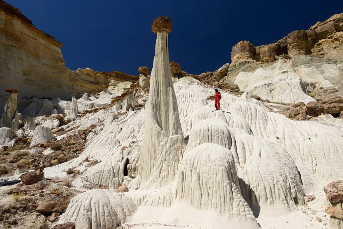 Grand Staircase Escalante National Monument (Utah, USA) - Wahweap Hoodoos : Towers of Silence(VO-14-0984)