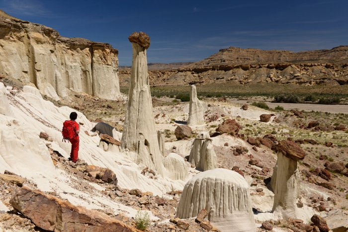 Grand Staircase Escalante National Monument (Utah, USA) - Wahweap Hoodoos : Towers of Silence(VO-14-1004)