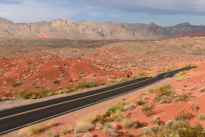 Valley of Fire State Park (Nevada, USA) -route entre Rainbow Vista et White Domes(VO-14-1169)