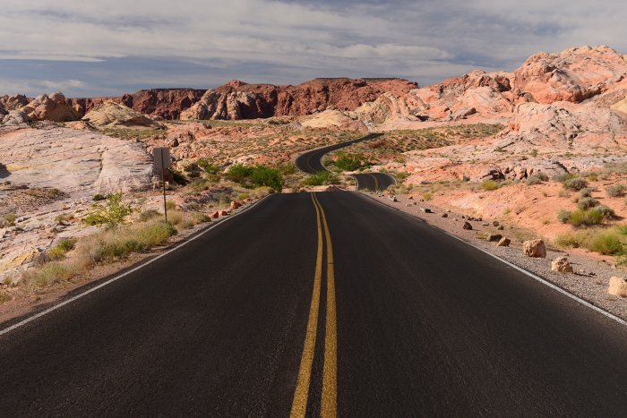 Valley of Fire State Park (Nevada, USA)- route vers Rainbow Vista(VO-14-1209)