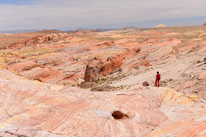 Valley of Fire State Park (Nevada, USA)- panorama depuis White Domes (VO-14-1307)