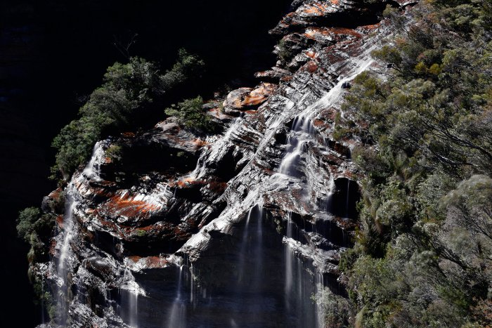 Blue Mountains National Park (New South Wales, Australie) - Katumba Falls (haut de la cascade)(VO-17-0192)