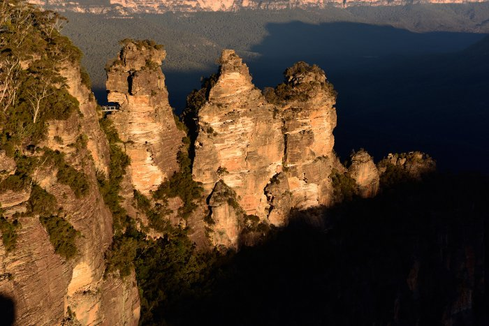 Blue Mountains National Park (New South Wales, Australie) - The Three Sisters au coucher du soleil(VO-17-0244)